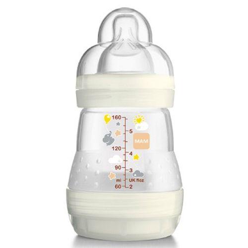Mamadeira-MAM-First-Bottle-160ml-Neutra-Branca-Anti-Colica-0-meses