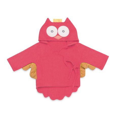 Roupao-para-Bebe-com-Capuz-Coruja-Pink-Multikids-Baby