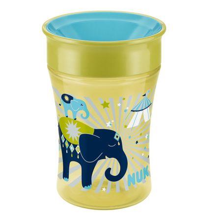 Copo-Antivazamento-Magic-Cup-Nuk-360-Graus-250ml-Elefante-Amarelo-e-Azul