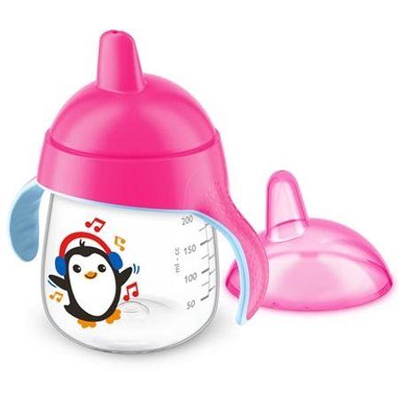 Copo-Magico-com-Bico-Avent-Pinguim-Rosa-260ml