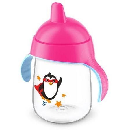 Copo-Magico-com-Bico-Avent-Pinguim-Rosa-340ml