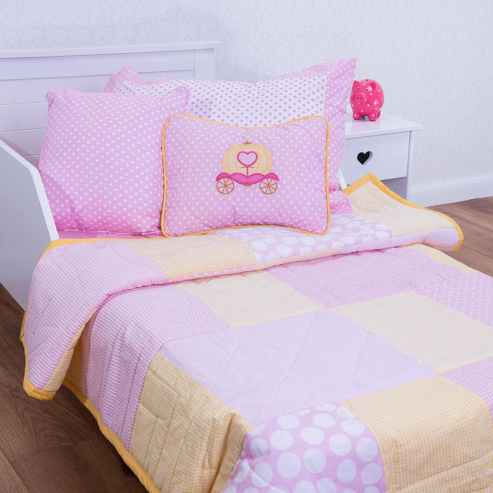 80ceb534ef Flicka Kids · Enxoval e Pijamas · Edredom. 282-COLCHA-RETALHOS-COM-ALMOFADA- CARRUAGEM ...