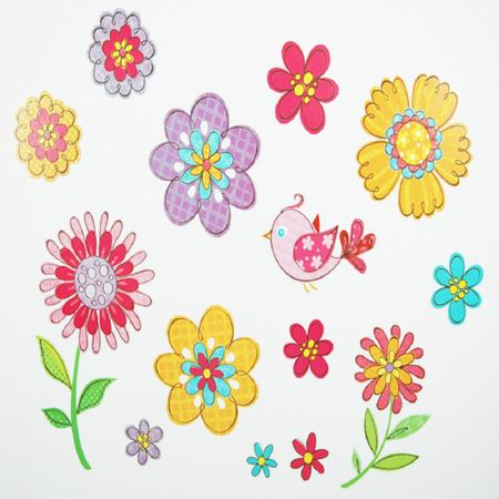 Adesivos_flores-_passaros