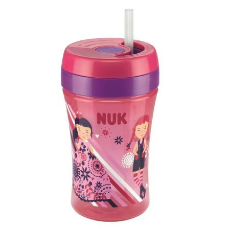 Copo-com-Canudo-NUK-Fun-300ml-18meses-Rosa