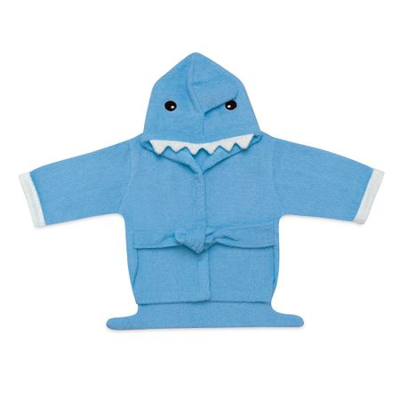 Roupao-para-Bebe-com-Capuz-Tubarao-Azul-Multikids-Baby