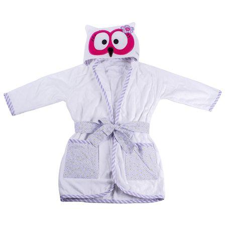 Roupao-Infantil-com-Capuz-de-Coruja-Pink-Flicka-Kids