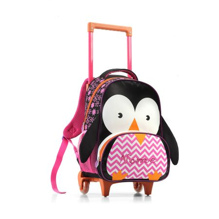Mochila-Infantil-com-Rodas-Pinguim-Seanite