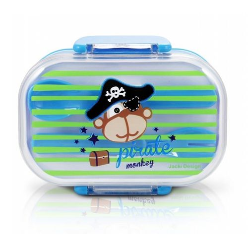 Pote-para-Lanche-Infantil-Macaco-Pirata-Azul-Jacki-Design