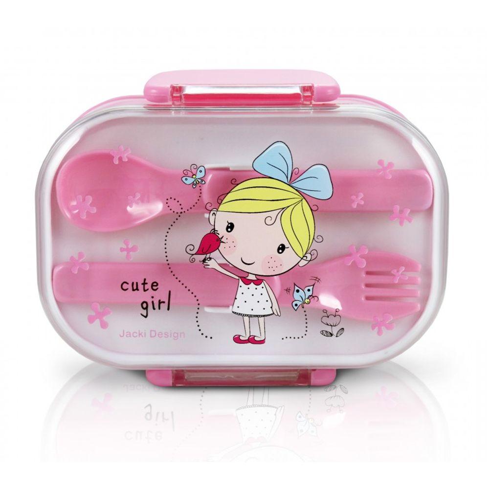 154295812 Pote para Lanche InfantilCute Girl Rosa Jacki Design - Flicka Kids
