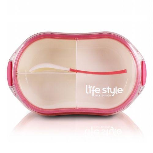 Pote-Marmita-com-3-Divisoes-Rosa-Jacki-Design
