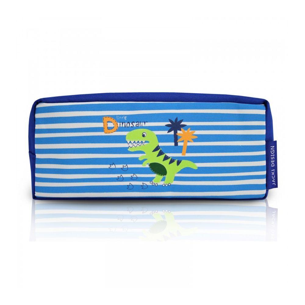 ba2dcc8f3 Estojo Escolar Infantil Pequeno Dinossauro Azul Jacki Design ...