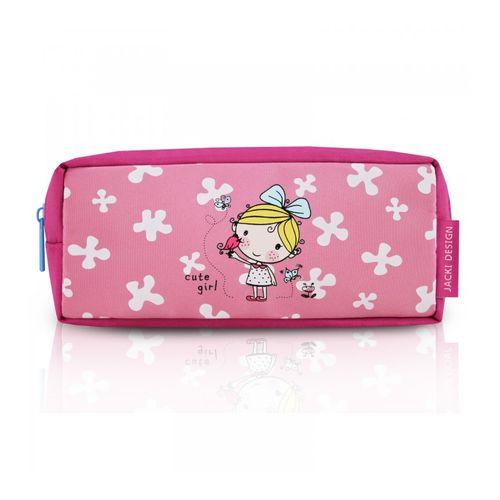 Estojo-Escolar-Infantil-Cute-Girl-Pink-Jacki-Design