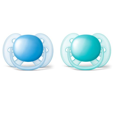 Chupeta-Avent-Ultra-Soft-S1-Azul--e-Verde---Certificado-OCP003-IFBQ-Seguranca