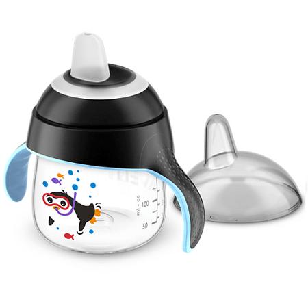 Copo-Magico-com-Bico-Avent-Pinguim-Preto-200ml