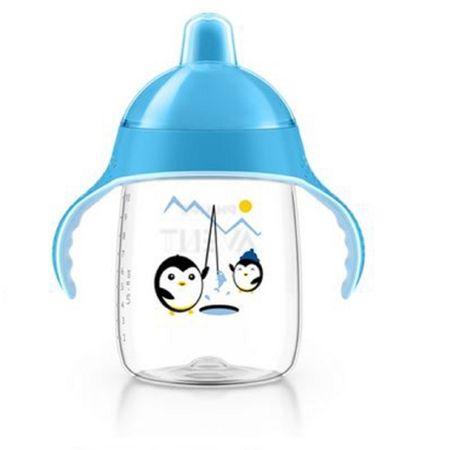 Copo-Magico-com-Bico-Avent-Pinguim-Azul-340ml