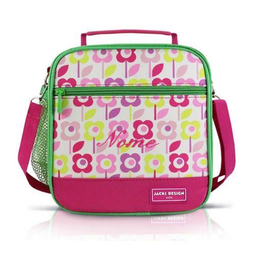 Lancheira-Termica-Infantil-Flores-Rosa-e-Verde-Jacki-Design
