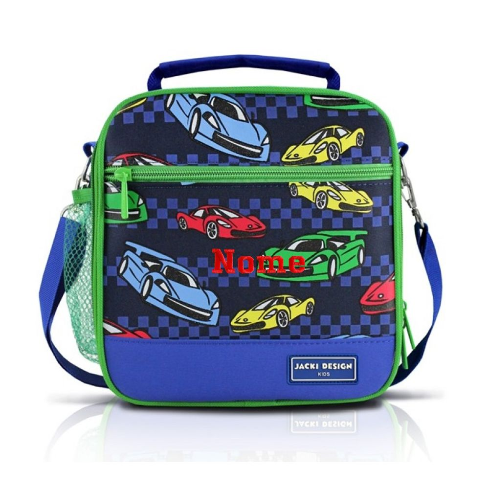 336ff885b Lancheira Térmica Infantil Carros Azul Jacki Design - Azul 11 x 19 x 20cm