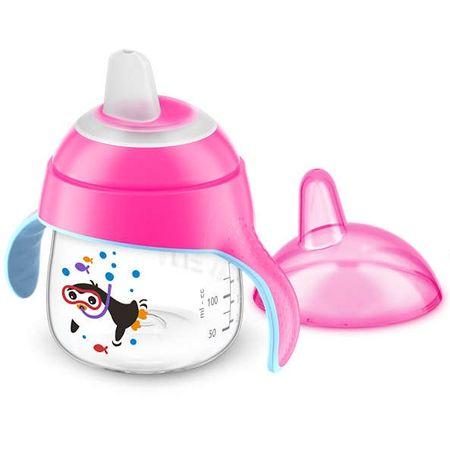 Copo-Avent-Pinguim-200ml-Pink-Frente