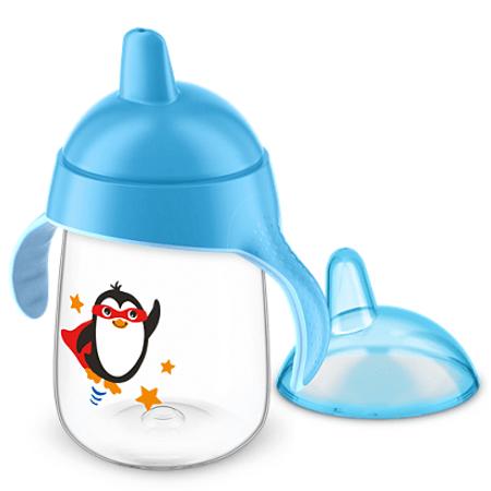 Copo-Avent-Pinguim-340ml-Azul-Frente