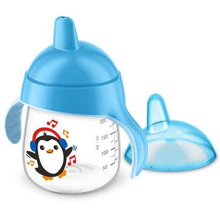 Copo-Avent-Pinguim-260ml-Azul-Frente