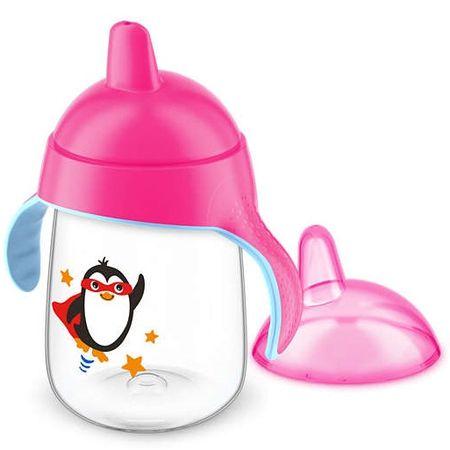 Copo-Avent-Pinguim-340ml-Pink-Frente