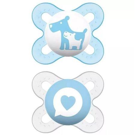 Chupeta-MAM-0-2-Meses-Start-dupla-Azul-Cachorrinho-e-Coracao---Certificado-OCP-0006-CE-PUR-IQP-Seguranca