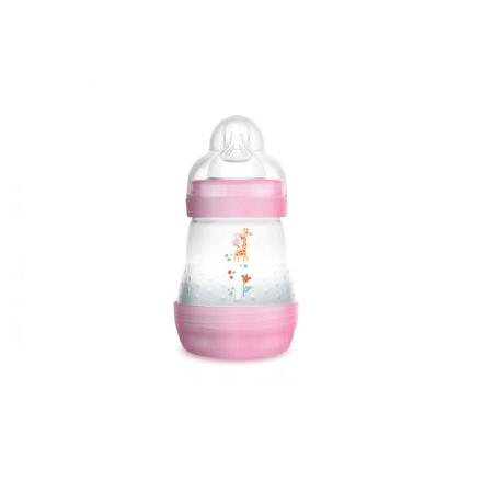 Mamadeira-MAM-First-Bottle-160ml-Girls-Rosa-Anti-Colica-0-meses